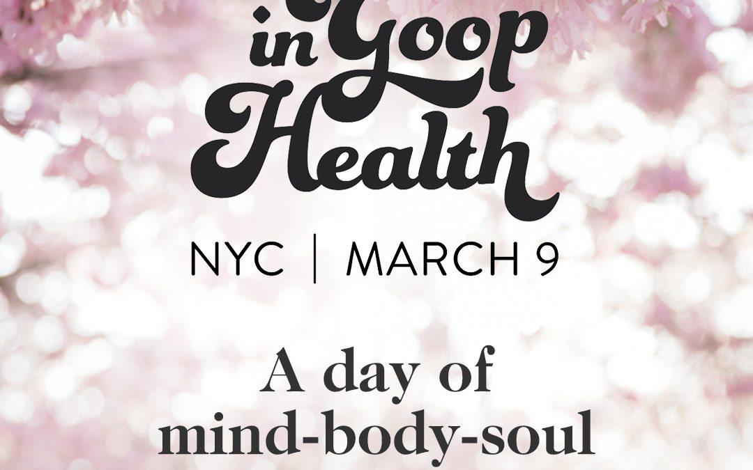 in Goop Health Wellness Summit 2019